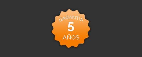 5 años de garantía
